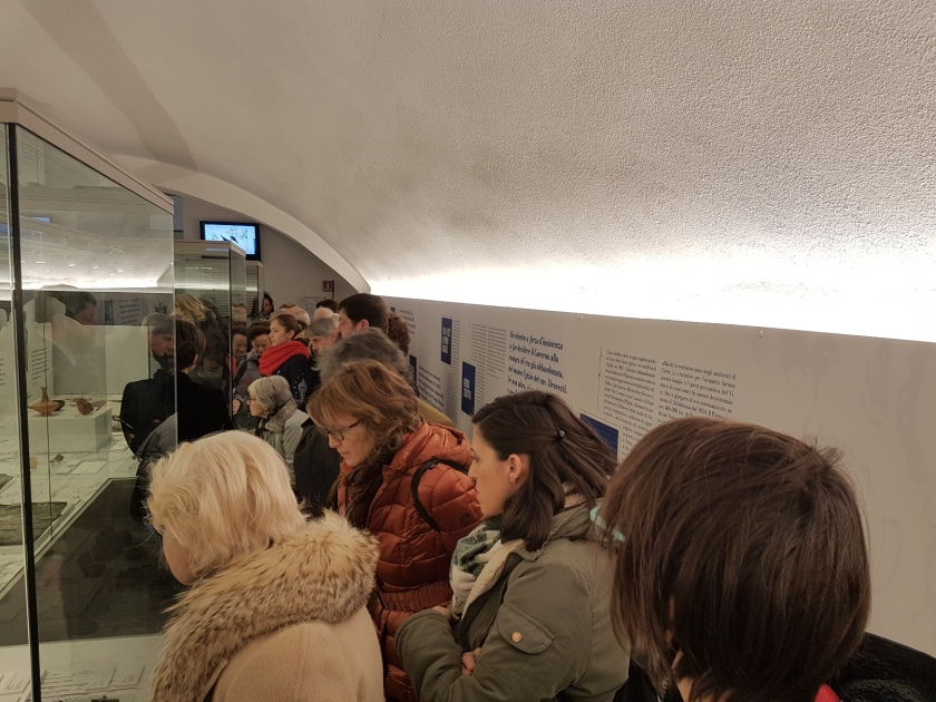 visitatori alla mostra Vidua