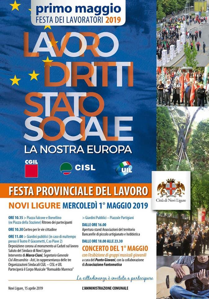 1 maggio manifesto Comune Novi Programma