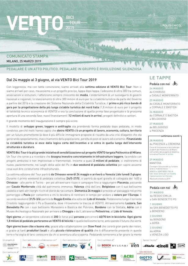 1a 20190325_Comunicato Stampa_VENTOBiciTour2019_POLIMI