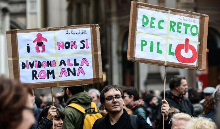 Manifestazione contro ddl pillon