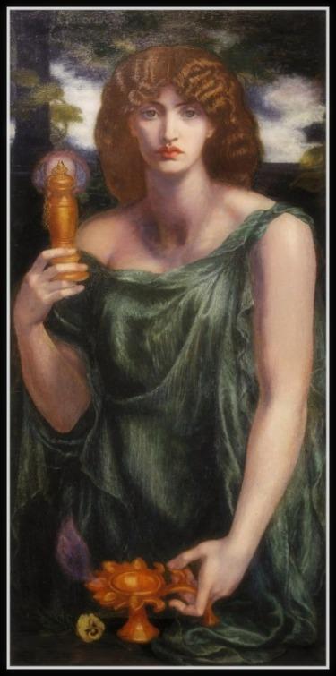 """""""Mnemosyne"""" by Dante Gabriel Rossetti (1881) .-"""