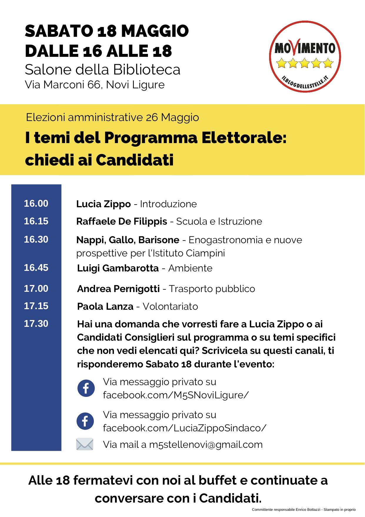 M5S Novi - locandina evento candidati M5S - Novi Ligure - biblioteca civica - 18_05_2019.jpg