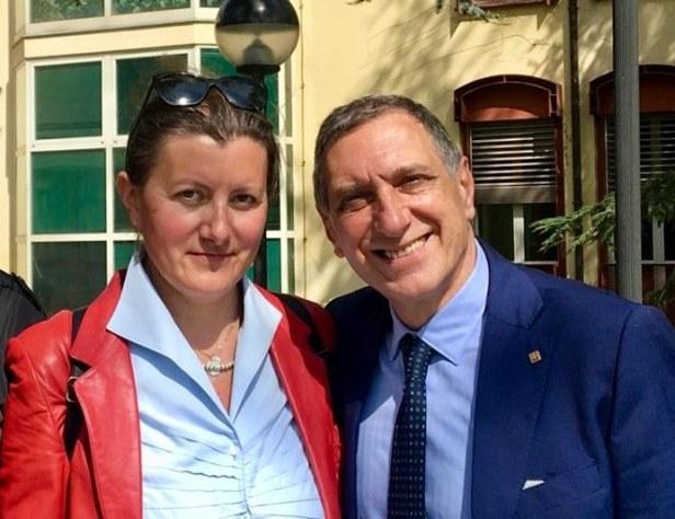 Paola Ferrari e Alfredo Monaco