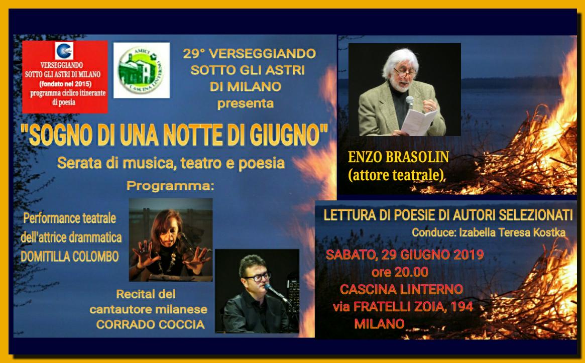 """EVENTI: """"Sogno di una notte di giugno"""" il 29.06. a Milano – teatro, musica, fiabe, racconti epoesia."""