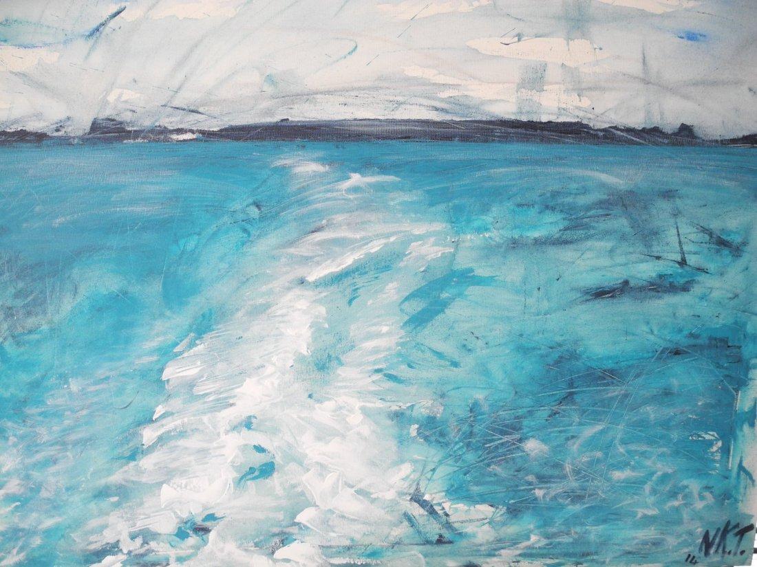 LA SCIA acrilico 1 premio concorso pittura a Rocchetta di Niki Taverna