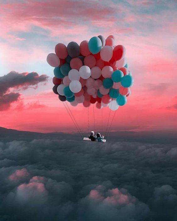 niños con globos
