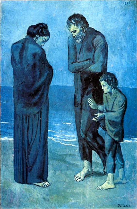 PoveriInRivaAlMare PP olio su tela 1903 p blu jpg