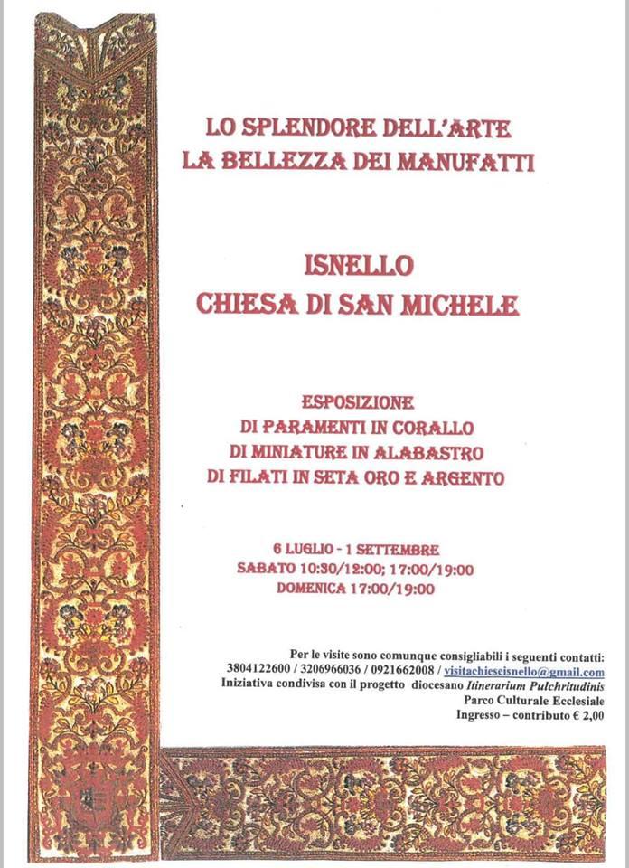 Appuntamenti – Esposizione di paramenti sacri nella Chieda di San Michele aIsnello