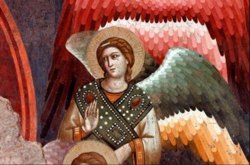 Giudizio finale (dettaglio angelo) 2a