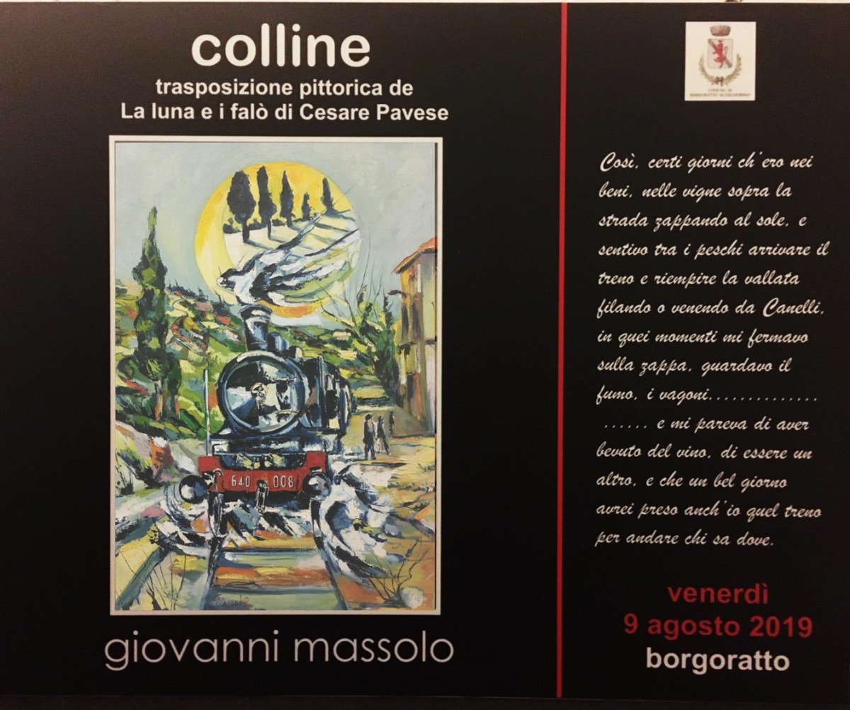 Colline, la mostra di Giovanni Massolo, a Borgoratto fino a Domenica 19 Agosto, di BrunoVolpi