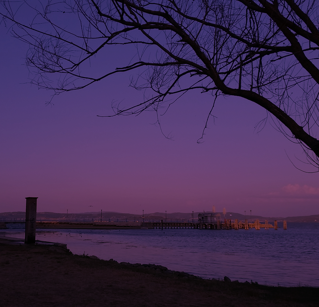 lago trasimeno tramonto
