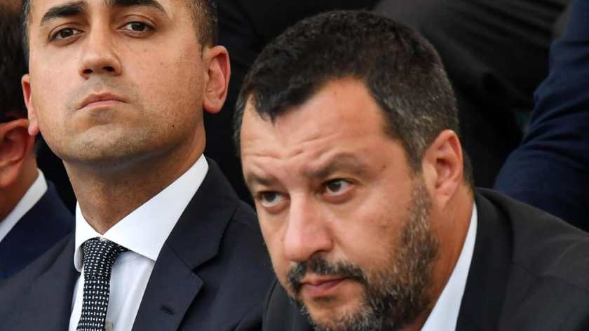 Luigi Di Maio e Matteo Salvini in un'immagine ripresa a Roma 8 luglio 2019-3
