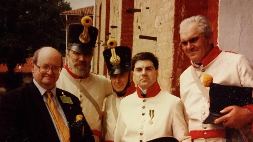 Marengo lo storico David Chandler con Claudio Braggio (ufficiale 44 Graf Belgiojoso) in Cittadella
