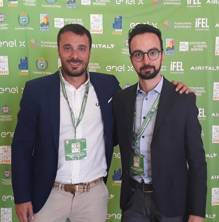 Simone Annaratone e Piero Castellano a Olbia per la X Assemblea Nazionale ANCI Giovani.jpg