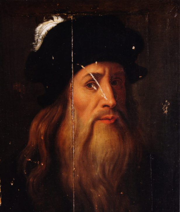 La-tavola-Lucana-con-il-ritratto-di-Leonardo.