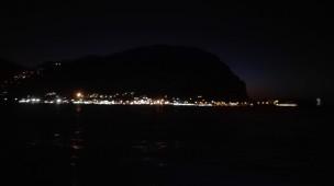 Montepellegrino di notte