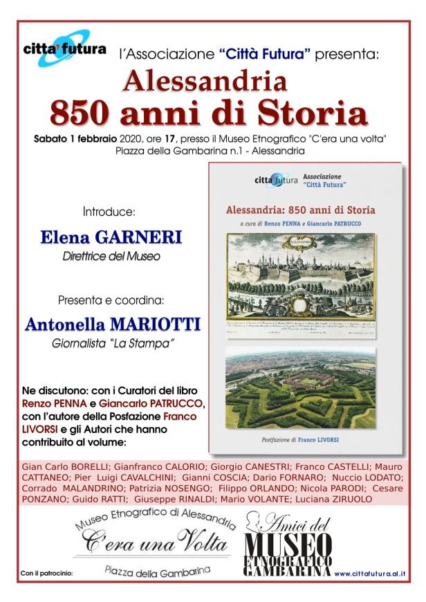 Locandina 850 anni Gambarina 1 febbraio 2020