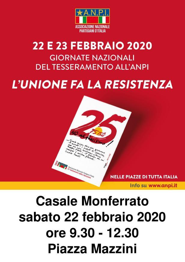Tesseramento 2020 - Manifesto