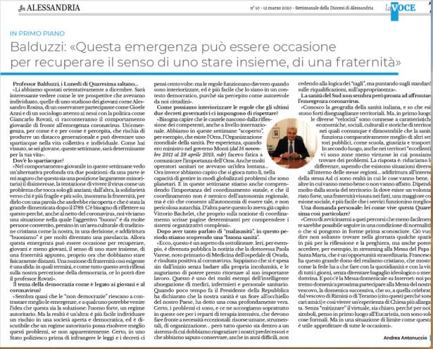Balduzzi Intervista