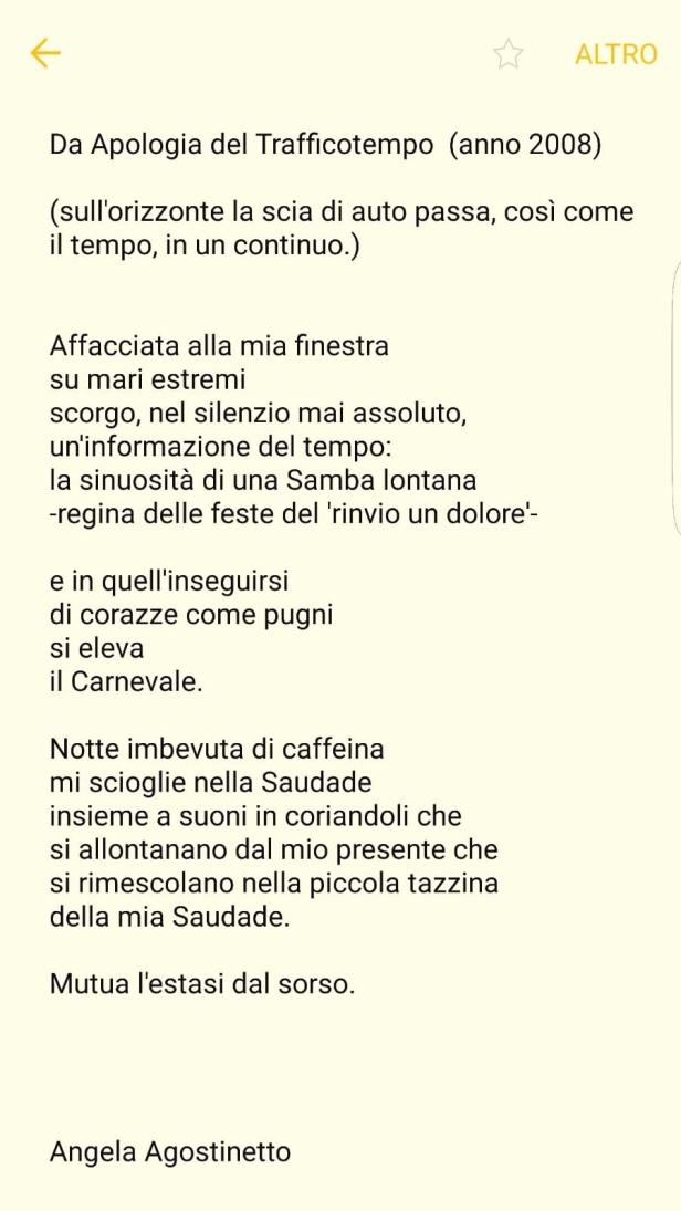 Poesie Angela Agostinetto