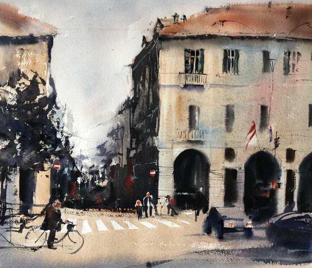 Alessandria,corso Roma, piazza Garibaldi