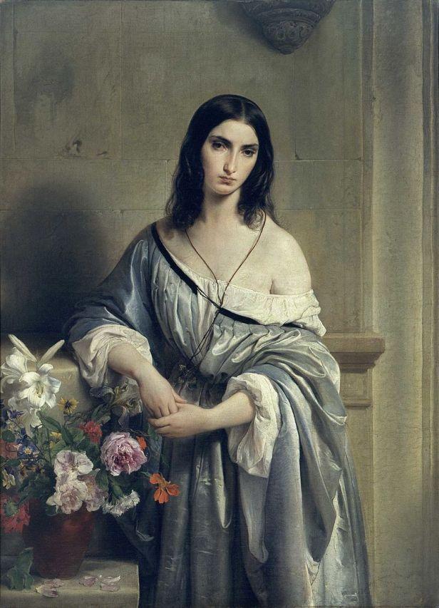 "Francesco Hayez ""Malinconia"" 1840-41, olio su tela, cm.138,6×104, Pinacoteca di Brera, Milano"