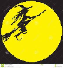 Strega, Yaga Della Donna Su Un Manico Di Scopa Dipinto Con I Pixel  Illustrazione Vettoriale - Illustrazione di arte, testa: 103299713